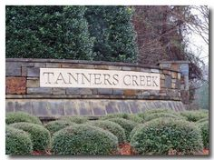 Tanners Creek entrance sign. Example of how well the neighborhood is maintained.
