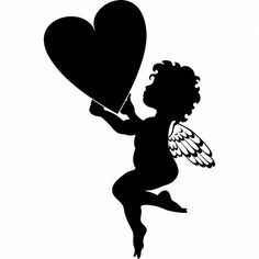Stickers coeur ange