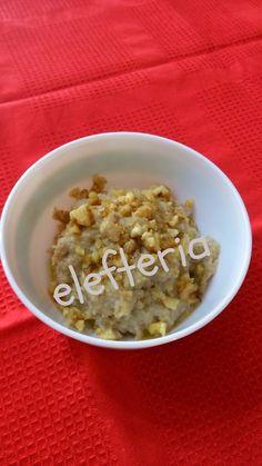 Γεύση Ελευθερίας: Σκορδαλιά με ψωμί και καρύδια Risotto, Oatmeal, Salads, Homemade, Breakfast, Ethnic Recipes, Food, The Oatmeal, Morning Coffee