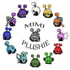 'Mimiplushies' by PeziCreation Vintage T-shirts, Kawaii Art, Fantasy, Plushies, Yoshi, Illustration, Oc, Fictional Characters, Little Monsters