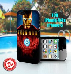 Iron Man  Print on Hard Case  Fit For iPhone 44S and by SingoEdan, $15.00.             OMG Meagan!!