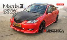 Mazda 3 BK Lenzdesign Bodykit & Spoilers 2003 2004 2005 2006 2007 2008 2009 Mazda 3 2008, Mazda Cars, Toyota Cars, Toyota Supra, Jdm Subaru, Subaru Impreza, Holden Colorado, Honda Civic Si, Mitsubishi Lancer Evolution