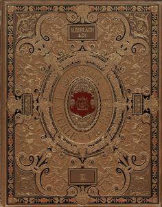 Fantastically ornate book cover from a German book, Die Perle : Weltorgan für Juwelengold und Silve...