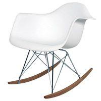 Rocking Chair in Modern White #midcentury #retro http://www.retroplanet.com/PROD/35445