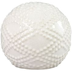 4-IN. CERAMIC ORB WHITE