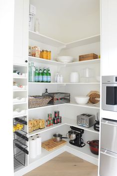 Pantry extra lighting on shelves maybe add outlets and for Jillian harris kitchen designs