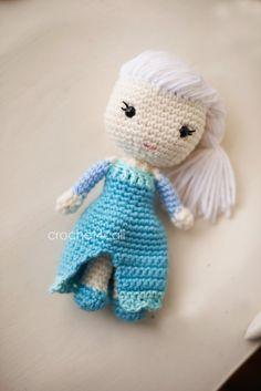 Elsa Inspired Crochet Doll Toy Handmade - Frozen Snow Queen Princess on Etsy, $30.00