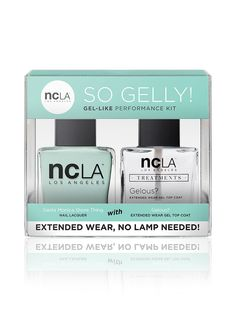 Santa Monica Shore Thing Kit comes with a gorgeous sea foam green shade of nail lacquer! Make it extended wear like a gel mani with our Gelous? top coat guaranteed to make your color last longer and stay shiny