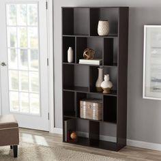 8 Cube Bookcase Dark Brown Espresso Bookshelf Storage Shelves Home Office Shelf Cube Bookcase, Modern Bookcase, Bookcase Storage, Cube Storage, Bookshelves, Shelving, Bookcase White, Book Storage, Hall
