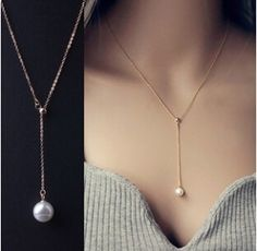 LZ 2016 New Fashion Top Quality simulated pearl Jewelry Sample Style Adjustable Chain Statement Necklace For Women N14 aliexpress.com
