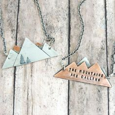 Mountain Range Necklace - The Mountains are Calling