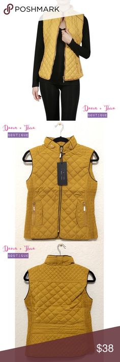 "🌟Mustard Fur-Lined Quilted Vest🌟 Mustard fur-lined quilted vest. Very good quality. 100% Polyester.  Size Chart: Medium  💟Feel free to submit your offer thru the   ""Offer"" button 💟NO Price discussion in the comment 💟NO Lowballing 💟NO Trades Fashionomics Jackets & Coats Vests"