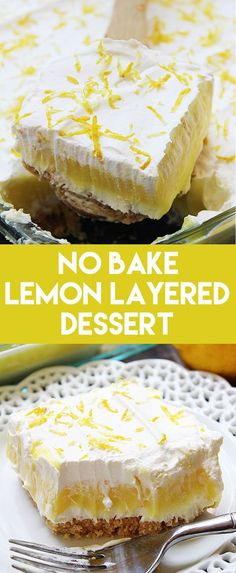 Golden Oreos, cheesecake, lemon pudding, and whipped topping make this No Bake Lemon Layered Dessert taste awesome! (easy pie recipes no bake) Brownie Desserts, Köstliche Desserts, Dessert Recipes, Oreo Layer Dessert, Dessert Simple, Healthy Cheesecake Recipes, Healthy Lemon Desserts, Lemon Cheesecake No Bake, Oreo Cheesecake