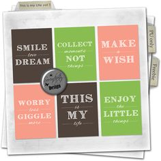 Serendipity Design free freebie This is my Life journaling cards project life digital scrapbooking printables