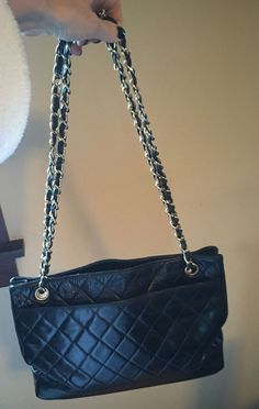 38345599bf Authentic Vintage Chanel Black Leather Tote/crossbody Chanel Price, Chanel  Online, Black Leather
