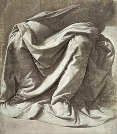 Leonardo da Vinci | Drapery study for a Seated Figure | Louvre Museum | Buy Prints Online