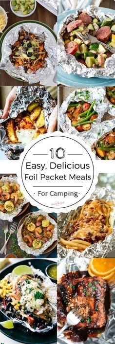 I love camping and I love to take foil packet meals with me. They are easy to prepare ahead of time, delicious and make for a simple supper while camping. Prepare them at home, cook on site, enjoy and