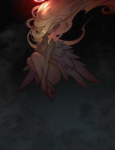 Art for adults Digital Art Anime, Anime Art, Anime Fantasy, Fantasy Art, Character Art, Character Design, Angel Drawing, Sad Art, Sad Anime