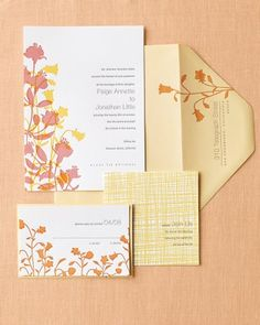 """See the """"Dynamic Floral Duo Invitation"""" in our Floral Wedding Invitations gallery"""