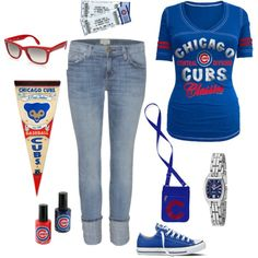 Chicago Cubs - if i wore this to a game my husband would be so proud!!
