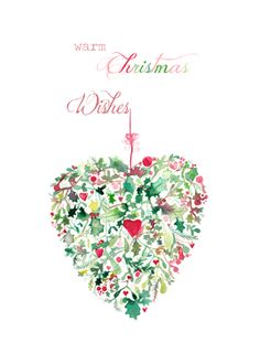 Heart of Foliage Christmas Card