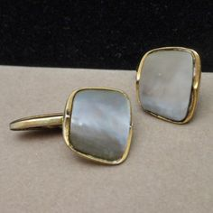 Mother-of-Pearl Cuff Links Vintage