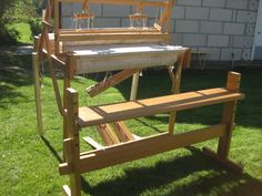 Large Sweden folding floor weaving loom | eBay