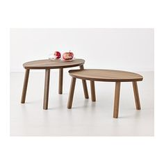 Wouldn't these stacking oval tables be lovely to have for children's work spaces, nature table, little life tables, etc.?  Think we need to build some.  STOCKHOLM Nesting tables, set of 2 - IKEA