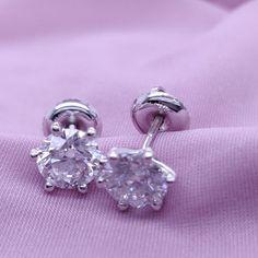 2 Carat Studs, Diamons Stud Earrings, 6 Prongs #14kwhitegold #diamondearrings #bridalearrings #weddingearrings #screwbackearrings #fineearrings #2caratsdiamonds #genuinediamonds #6prongsearrings #engagementearrings #solitaireearrings #diamondstuds #bridesmaidearrings