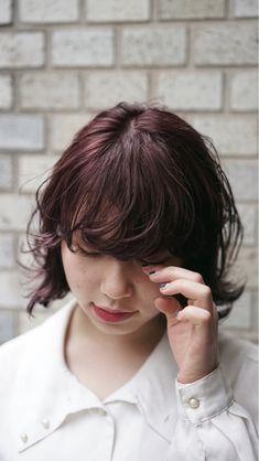 ブリーチ×暖色系オリジナルカラー。ピンク系だけど大人っぽく見える色味です○