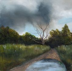 Through the earth - Like the current of life that runs through the earth. Oil and mixed media on canvas Mixed Media Canvas, Fails, Country Roads, Earth, Paintings, Lighting, Life, Paint, Painting Art