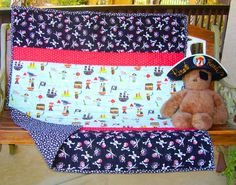 SalePrice Reduced Boy Pirate 40x43 Baby Crib Toddler by DDSewHappy