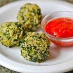 Spinach brown rice balls