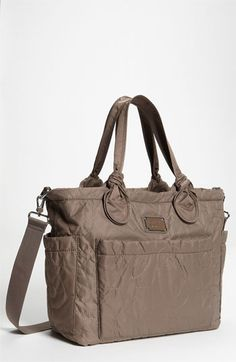 Women's MARC by Marc Jacobs 'Pretty Nylon Eliz-A-Baby' Diaper Bag - Grey (883936647934) Durable nylon baby bag is embroidered with tonal, oversized logo letters and topped with casually knotted handles. A coordinating changing pad and an optional adjustable shoulder strap are included. Color(s): black, grey. Brand: Marc by Marc Jacobs. Style Name: MARC BY MARC JACOBS 'Pretty Nylon Eliz-A-Baby' Diaper Bag. Style Number: 350163 5.
