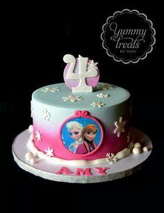 Pinky Frozen cake