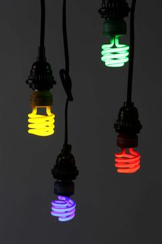 Multiple colors CFL Light Bulb @ Urban Outfitters $15