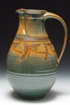 Mark Nafziger pottery--I like the colors in this, and it is modern-rustic looking.
