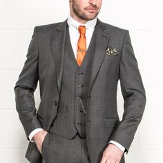 SANTINELLI Tailored Fit Prince of Wales Check Grey Suit £159.00