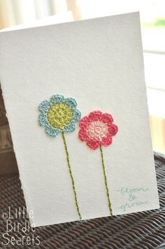 Seven Petal Crochet Pattern; create little flowers for embroidered cards, bookmarks, accessories and more!