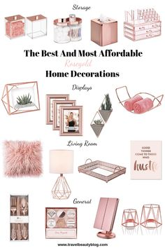 Hauptdekorationen in Rosegold 2019 – Rose Gold Home Decor mit kleinem Budget vo… Room Decor Bedroom Rose Gold, Rose Gold Rooms, Rose Gold Decor, Gold Home Decor, Room Ideas Bedroom, Blush Pink And Grey Bedroom, Bedroom Decor Diy On A Budget, Rose Gold Interior, Teen Bedroom Furniture