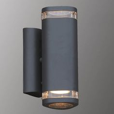Kinkiet LAMPA elewacyjna NOELL 238 Italux IP44 zewnętrzna OPRAWA ścienna outdoor grafitowa