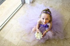 Cara+Ryan #purpleflowergirltutu Photos by PlayaWeddings