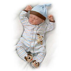 Sweet Dreams, Danny Weighted Lifelike Baby Boy Doll - Realistic Baby Dolls