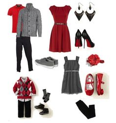 great wardrobe ideas compiled for you! Source by LookSome great wardrobe ideas compiled for you! Source by Look Chic, glam contro il freddo Red black and gray palette. What to wear for family portraits - Capturing Joy with Kristen Duke Temporary:Secretary Christmas Pictures Outfits, Family Christmas Pictures, Holiday Outfits, Holiday Photos, Family Christmas Outfits, Christmas Dresses, Winter Photos, Family Photo Colors, Fall Family Photo Outfits
