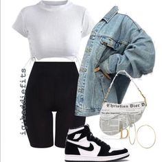 Cute Lazy Outfits, Teenage Outfits, Swag Outfits For Girls, Chill Outfits, Cute Swag Outfits, Teen Fashion Outfits, Retro Outfits, Look Fashion, Summer Swag Outfits
