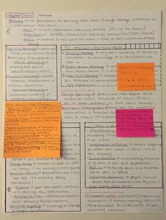 """acciostudy: """"So I got a request to do a close up of my review sheets and maybe a mini how-to so let's see how this goes. My review sheets are for my AP Psychology class, and each sheet corresponds..."""