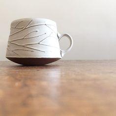 Sarah Pike slab-built pottery Ceramic Teapots, Ceramic Cups, Ceramic Pottery, Slab Ceramics, Clay Mugs, Clay Tiles, Ceramic Studio, Pottery Making, Tea Bowls