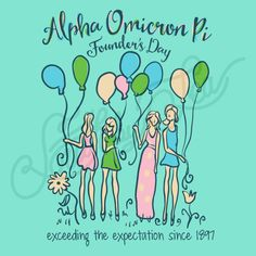 Sorority Social Alpha Omicron Pi Balloon Founders Day South By Sea