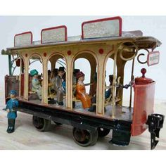 *MARKLIN TIN-TRAMS STREETCAR ~ summer car; 2-axis, without...
