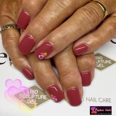 Marie's #newset #biosculpturegelnails #devotedpetal  with a #nailart #heartsticker #biosculpturegel #nails #paphosnails #biosculpturebytheresa #kissonerga #biosculpturecyprus #biosculpturegb
